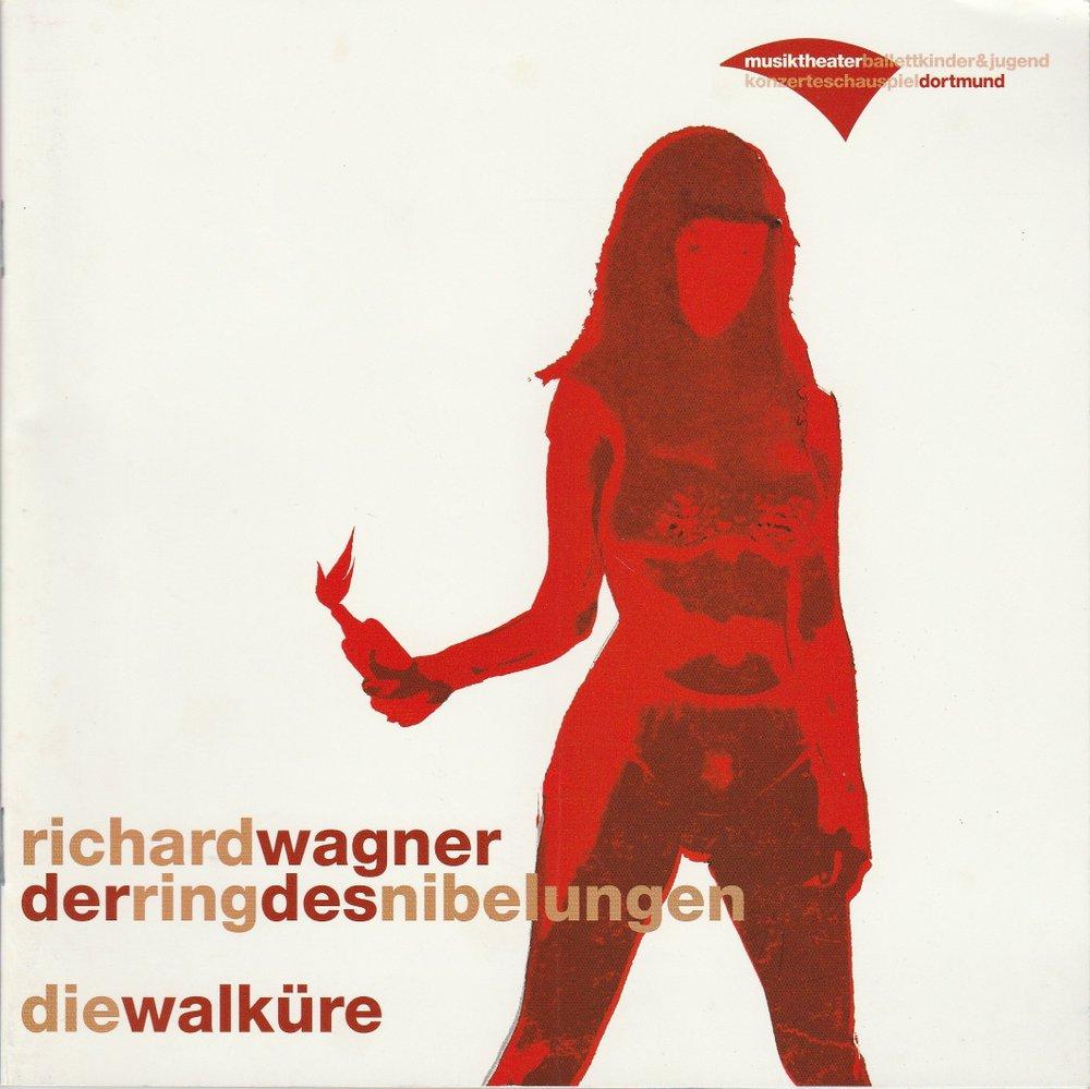 Programmheft Die Walküre von Richard Wagner Theater Dortmund 2005
