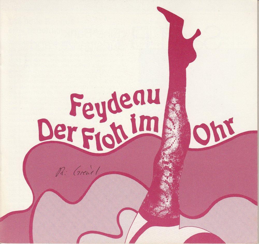 Programmheft Georges Feydeau: Der Floh im Ohr Staatstheater Saarbrücken 1984