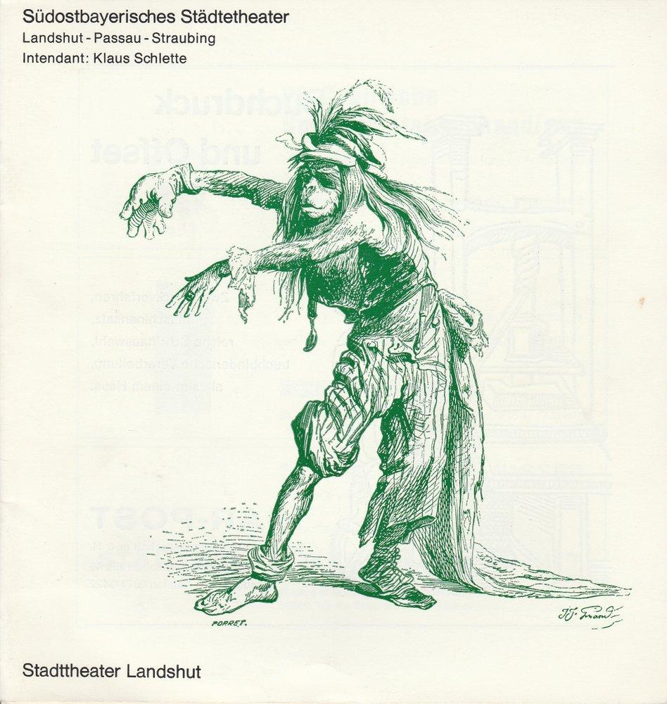 Programmheft Sophokles: KÖNIG OIDIPUS Südostbayerisches Städtetheater 1971