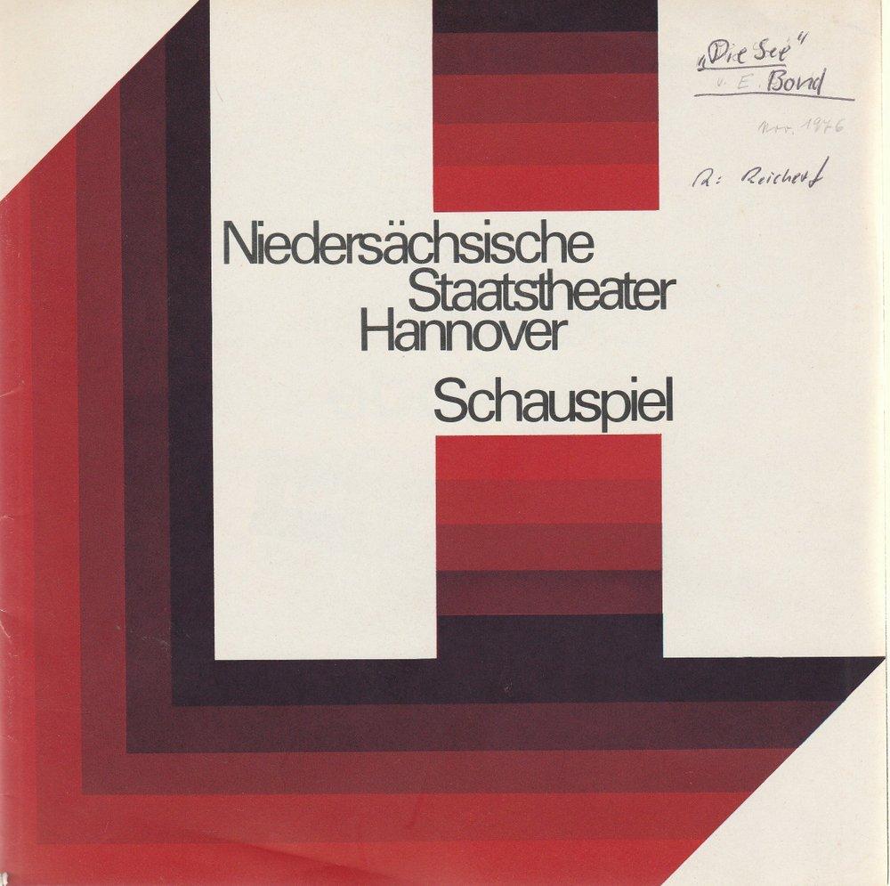 Programmheft Edward Bond DIE SEE Staatstheater Hannover 1976