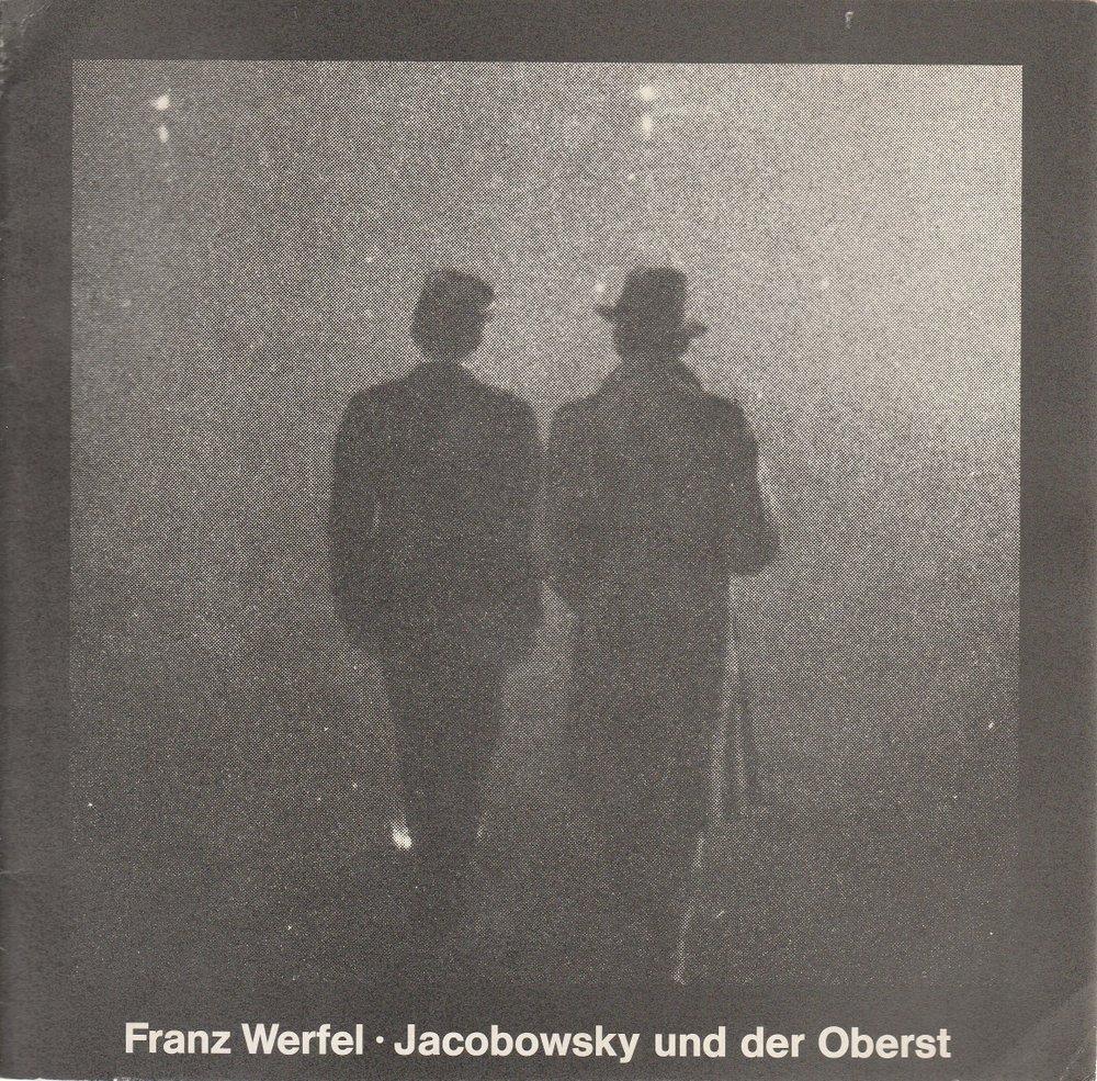 Programmheft Jacobowsky und der Oberst Staatstheater Hannover 1979