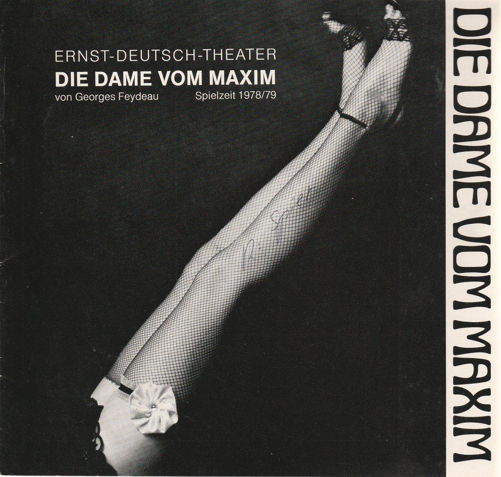 Programmheft Die Dame vom Maxim von Georges Feydeau Ernst-Deutsch-Theater 1979