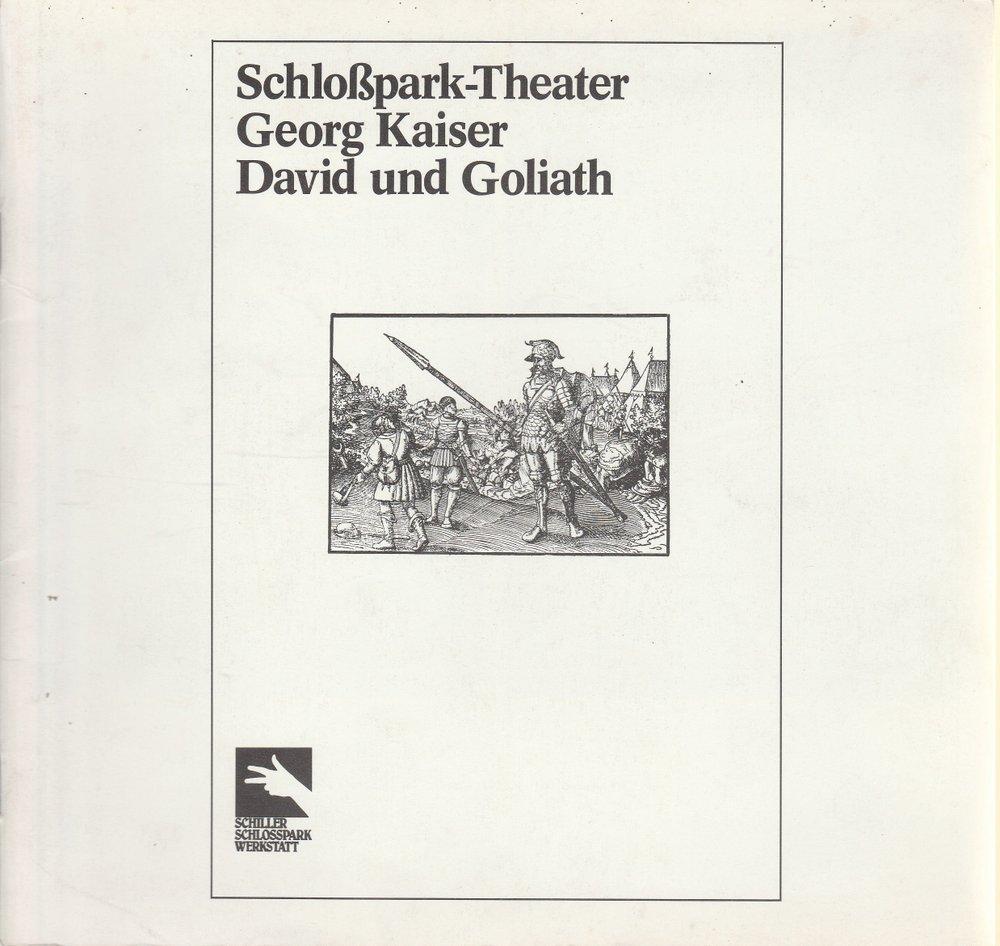 Programmheft David und Goliath von Georg Kaiser Schloßpark-Theater Berlin 1981