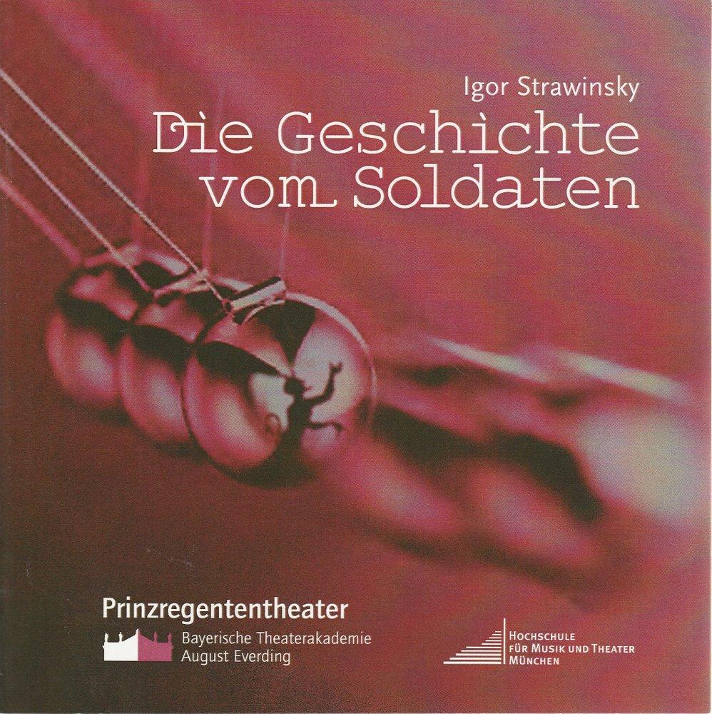 Programmheft Die Geschichte vom Soldaten Bayerische Theaterakademie 2006
