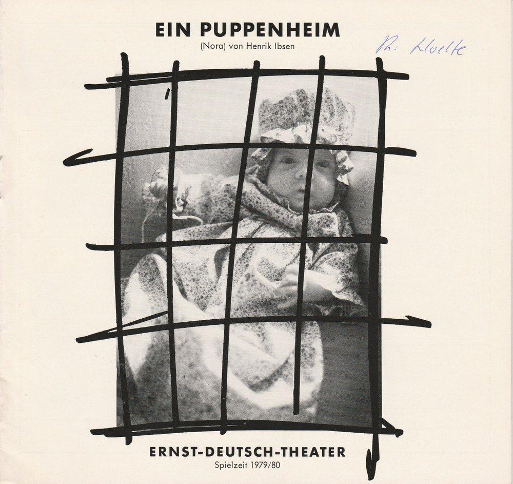 Programmheft Ein Puppenheim ( Nora ) von Henrik Ibsen Ernst Deutsch Theater 1980