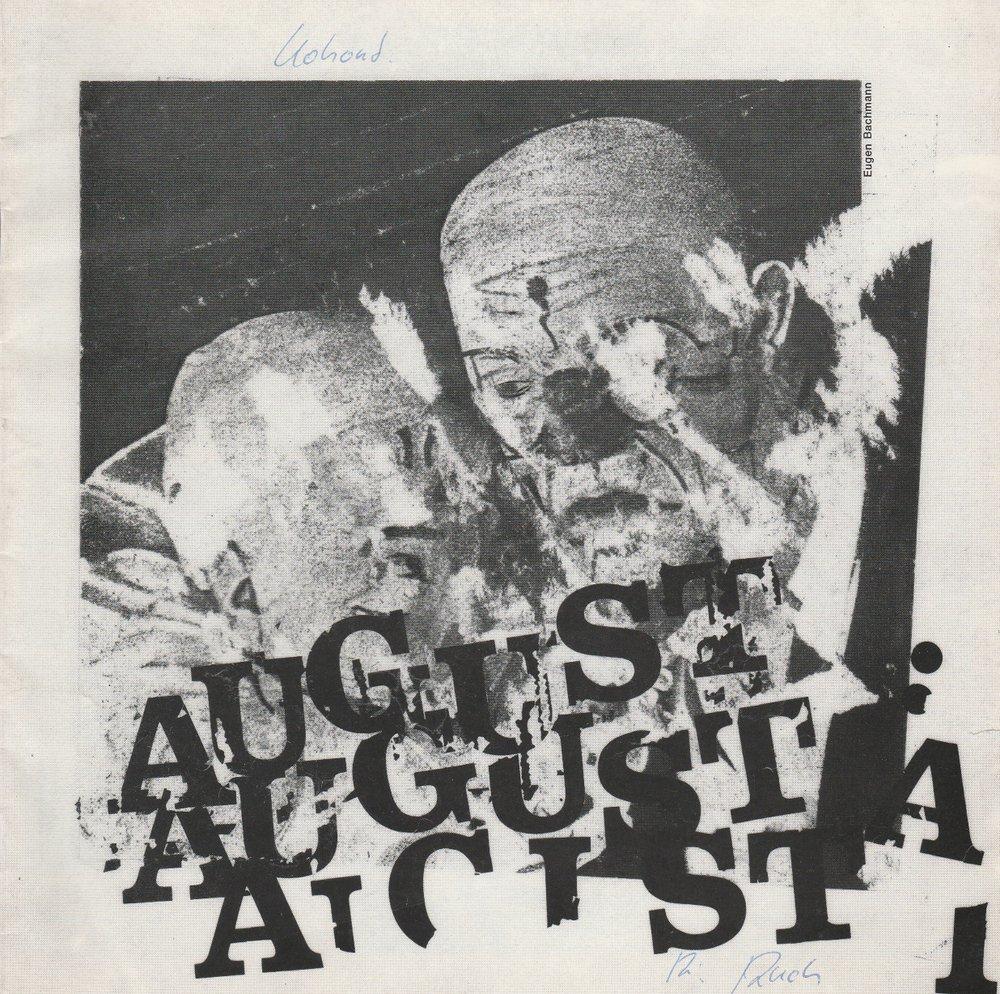 Programmheft Pavel Kohout: August August, August Stadttheater Luzern 1980