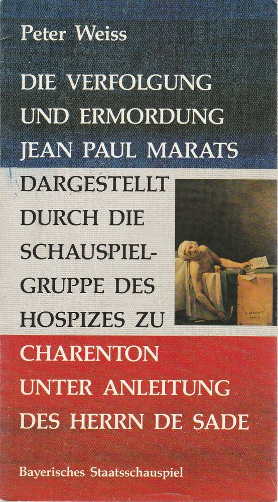 Programmheft Die Verfolgung und Ermordung Jean Paul Marats 1988