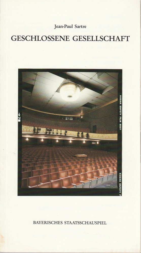 Programmheft Geschlossene Gesellschaft von Jean-Paul Sartre Residenztheater 1988