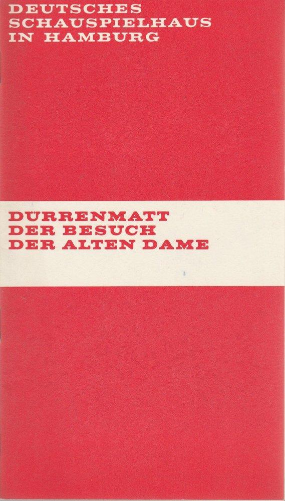 Programmheft Dürrenmatt Der Besuch der alten Dame Deutsches Schauspielhaus 1971