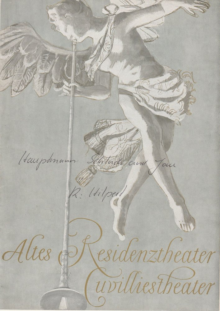 Programmheft Schluck und Jau von Gerhart Hauptmann Cuvillies-Theater 1962