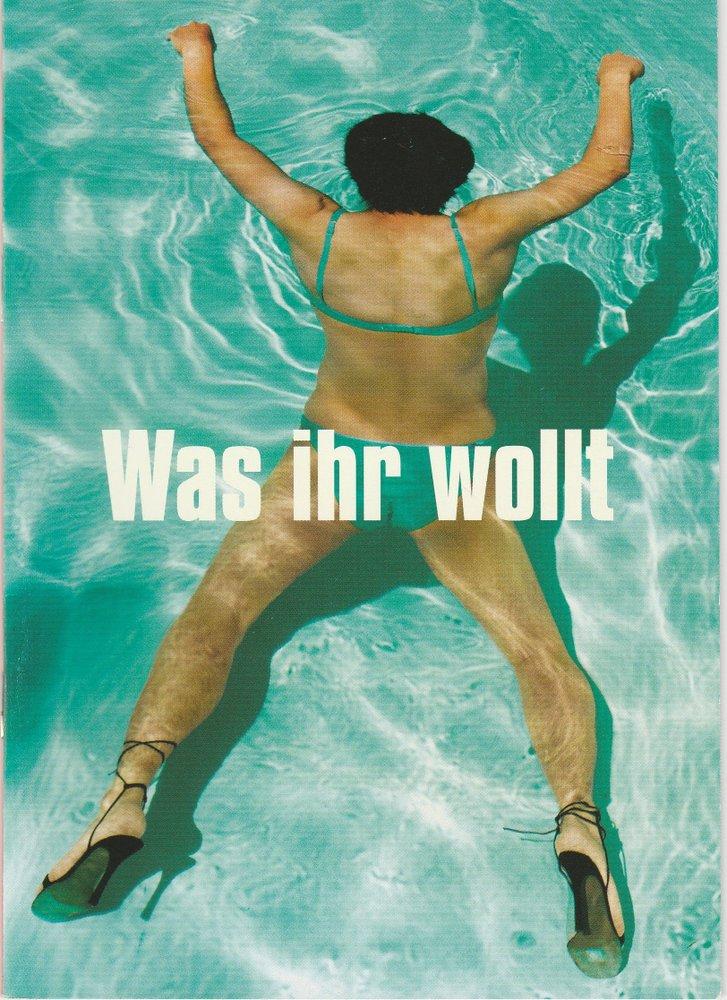 Programmheft Shakespeare Was ihr wollt Münchner Volkstheater 2004