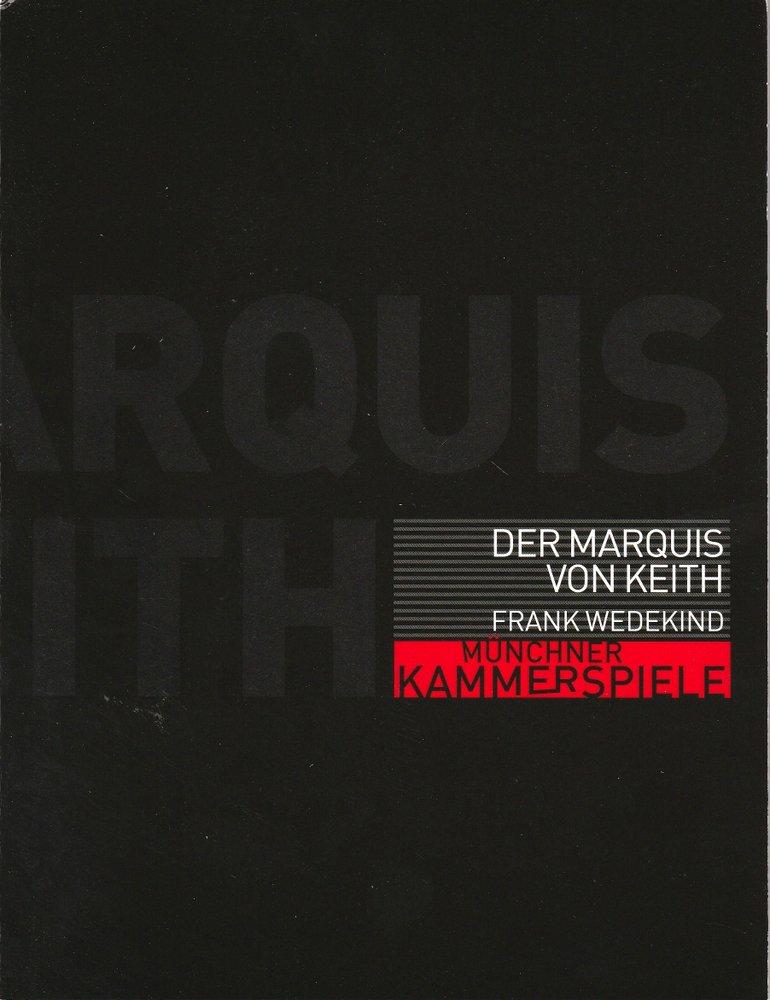 Programmheft Der Marquis von Keith Münchner Kammerspiele 2002