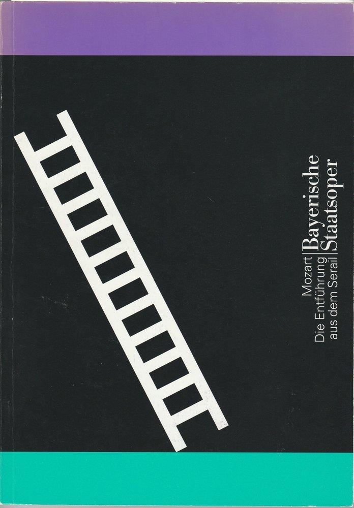 Programmheft Mozart Die Entführung aus dem Serail Bayerische Staatsoper 2003/08