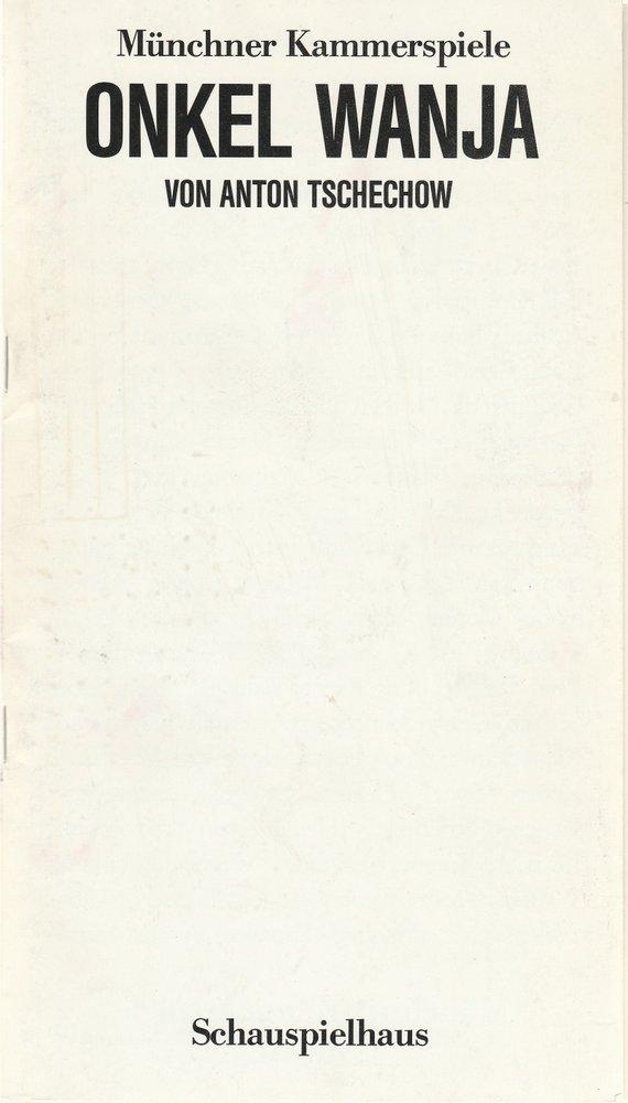 Programmheft Onkel Wanja von Anton Tschechow Münchner Kammerspiele 1987