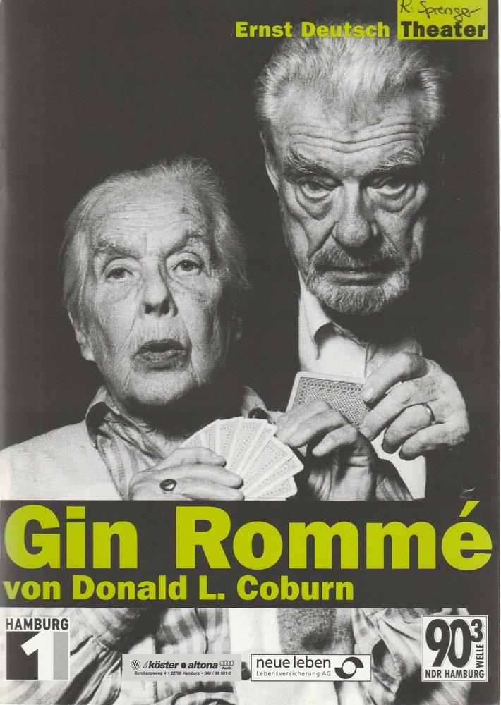 Programmheft GIN ROMME von Donald L. Coburn Ernst Deutsch Theater 2001