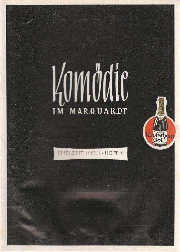 Programmheft Mein Sohn - der Herr Minister Junges Theater Stuttgart 1953