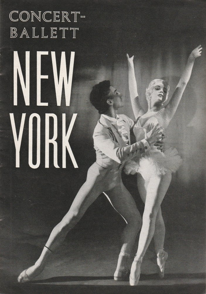 Programmheft AMERICAN CONCERT-BALLETT NEW YORK Konzertdirektion Landgraf 1958