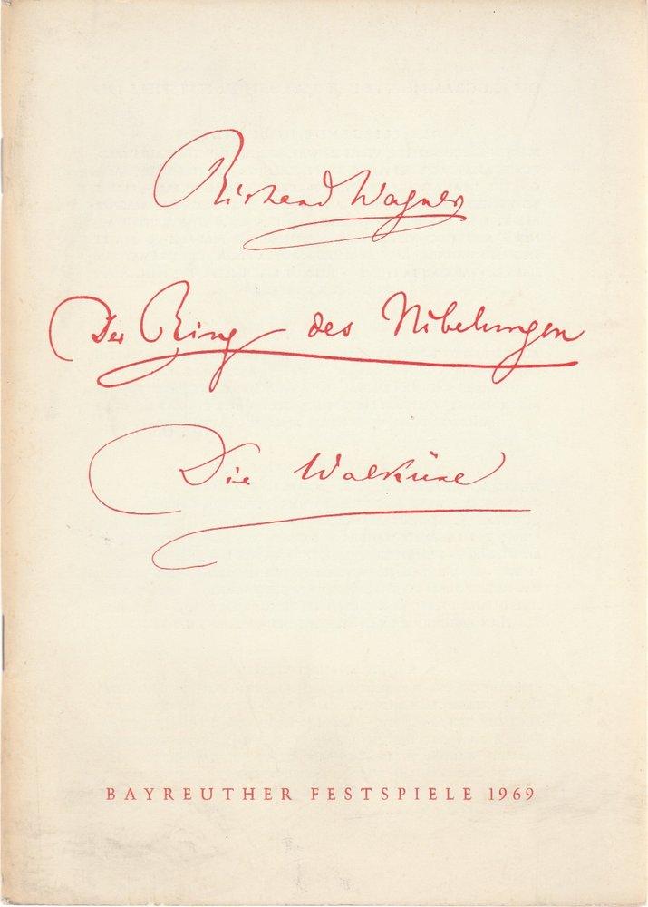 Programmheft VI Die Walküre von Richard Wagner Bayreuther Festspiele 1969