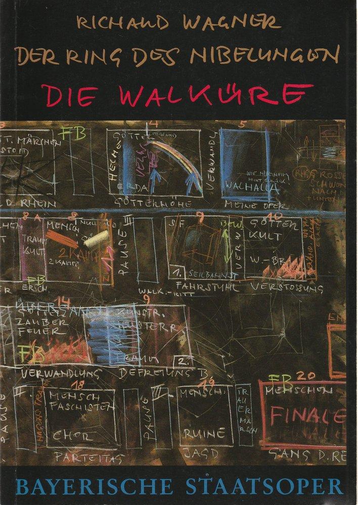 Programmheft DIE WALKÜRE von Richard Wagner Bayerische Staatsoper 1987
