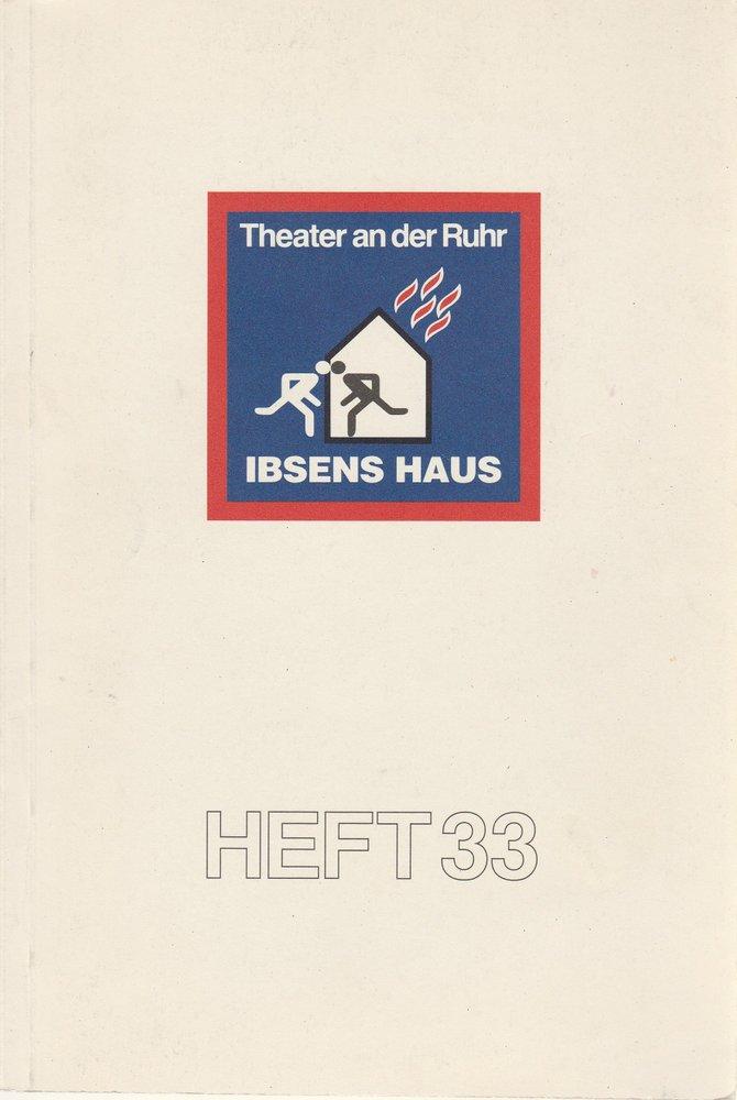 Programmheft Helmut Schäfer: IBSENS HAUS Theater an der Ruhr 1994