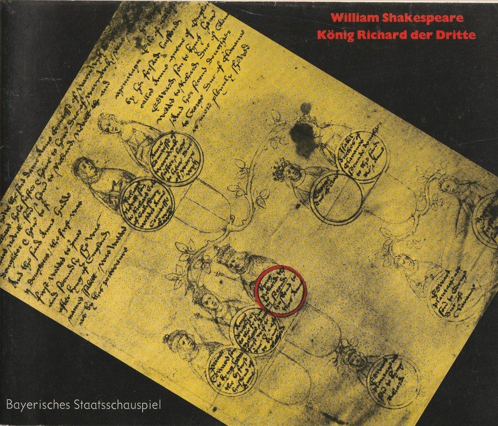 Programmheft Shakespeare: König Richard der Dritte Bayerisches Staatsschauspiel