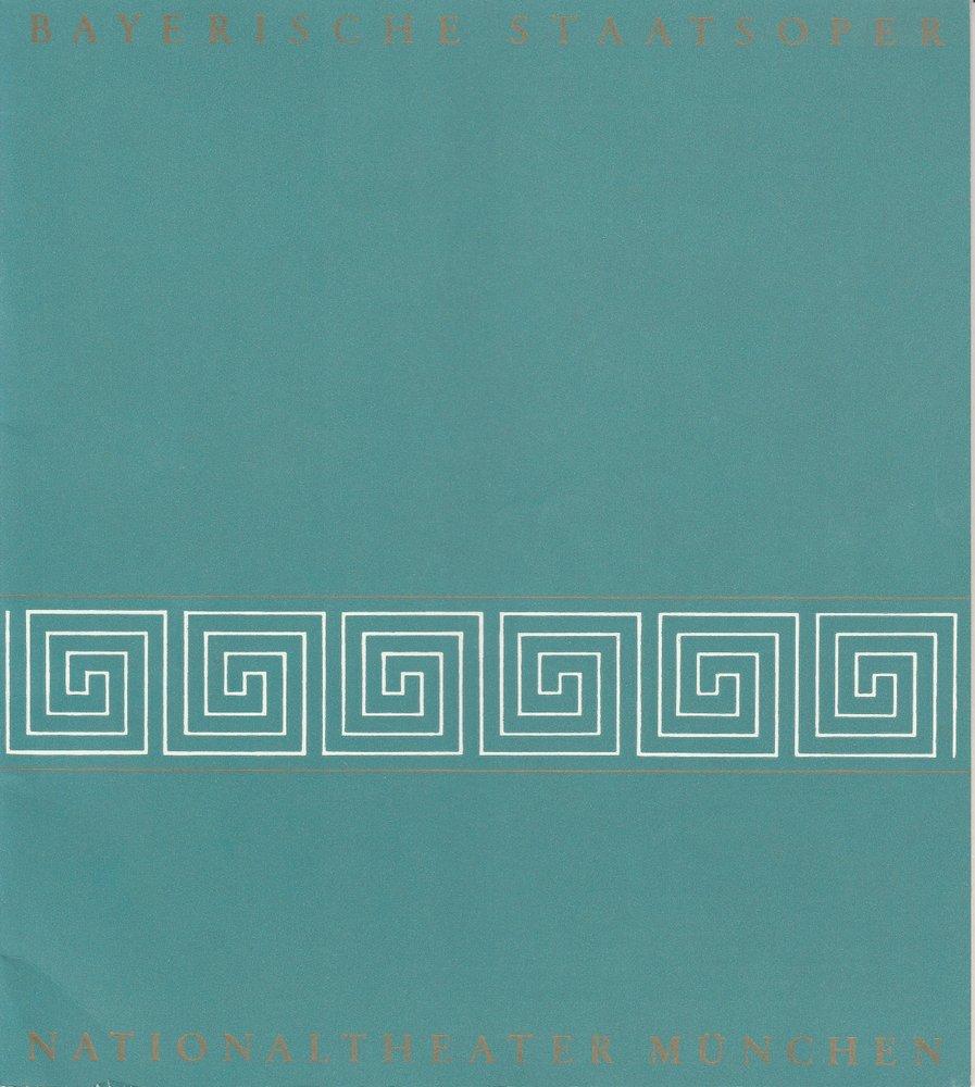 Blätter der Bayerischen Staatsoper Spielzeit 1970 / 71 Heft 6