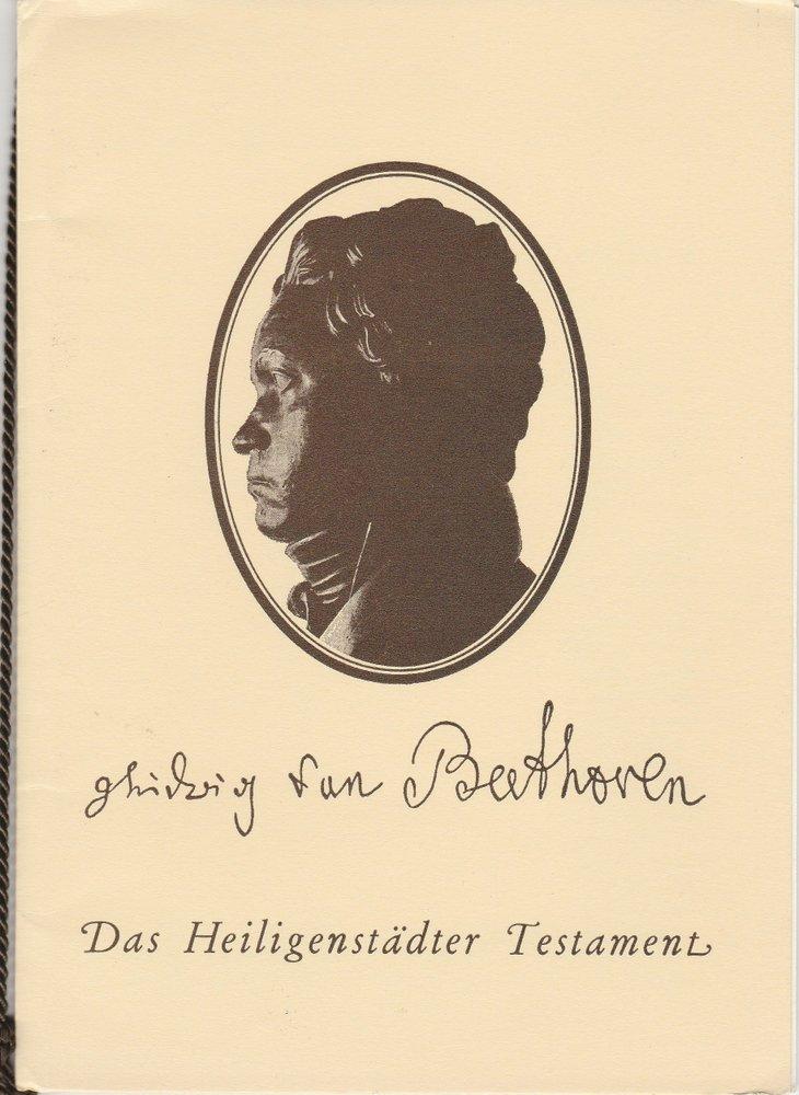 Ludwig van Beethoven : Das Heiligenstädter Testament