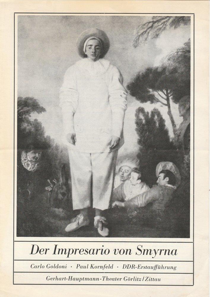 Programmheft Der Impressario von Smyrna Gerhart-Hauptmann-Theater Görlitz 1982