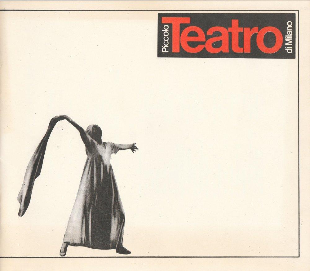 Programmheft Piccolo Teatro di Milano. Gastspiel XXVI. Berliner Festtage 1982