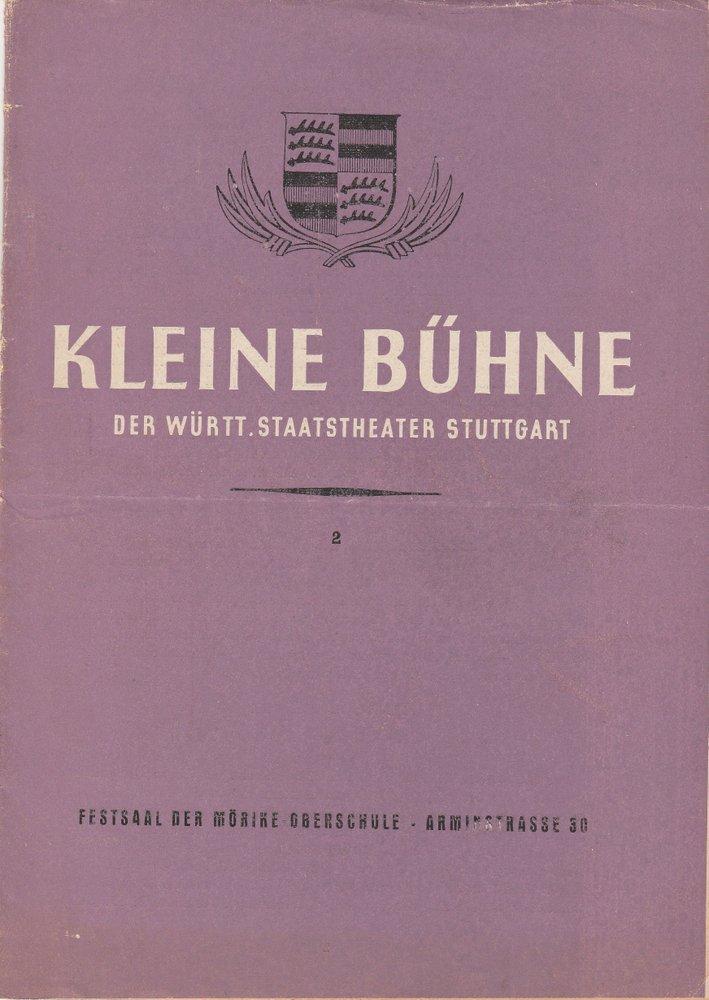Programmheft ANTIGONE. Tragödie von Jean Anouilh Stuttgart 16. Mai 1946