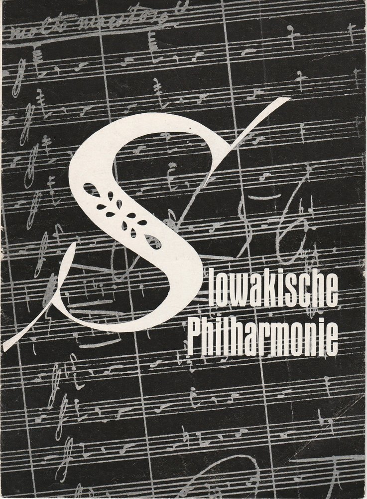 Programmheft SLOWAKSICHE PHILHARMONIE Konzertdirektion Landgraf 1962