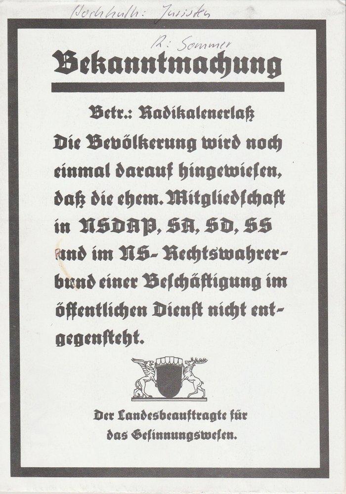 Programmheft JURISTEN von Rolf Hochhuth Pfalztheater Kaiserslautern 1981