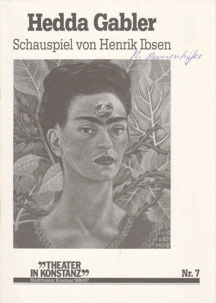 Programmheft HEDDA GABLER von Henrik Ibsen Stadttheater Konstanz 1987
