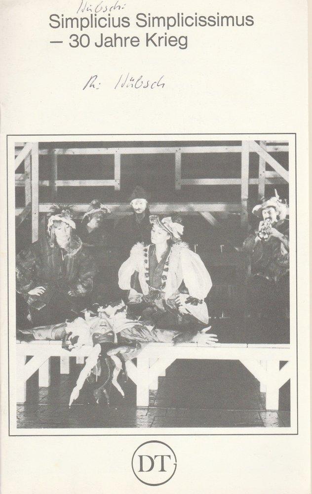 Programmheft Simplicius Simplicissimus Deutsches Theater in Göttingen 1979