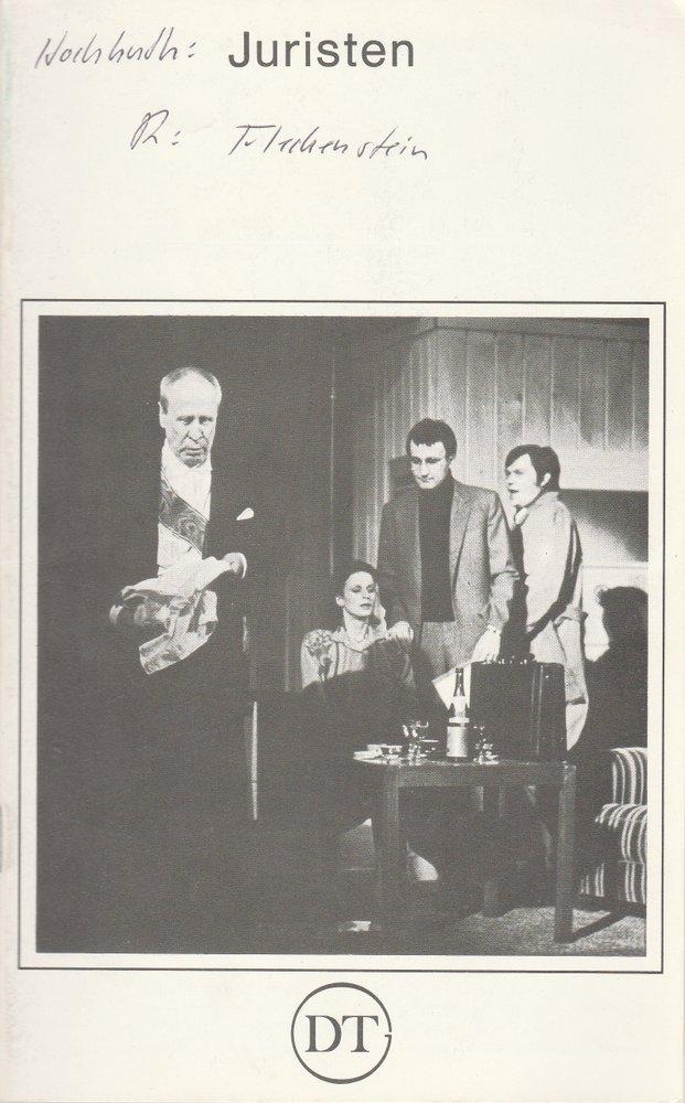 Programmheft JURISTEN. von Rolf Hochhuth Deutsches Theater in Göttingen 1979
