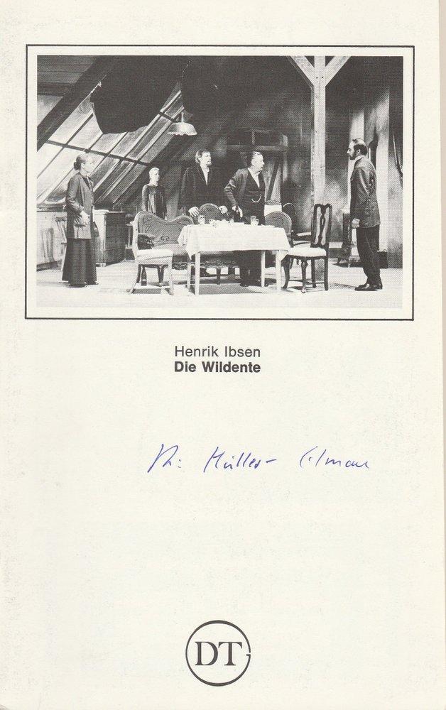 Programmheft DIE WILDENTE von Henrik Ibsen Deutsches Theater in Göttingen 1981