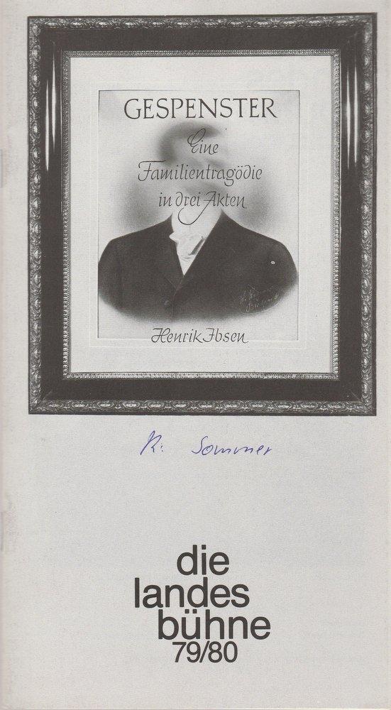 Programmheft Gespenster von Henrik Ibsen Stadttheater Wilhelmshaven 1979