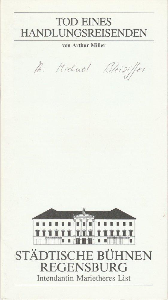 Programmheft Arthur Miller: Tod eines Handlungsreisenden Regensburg 1995