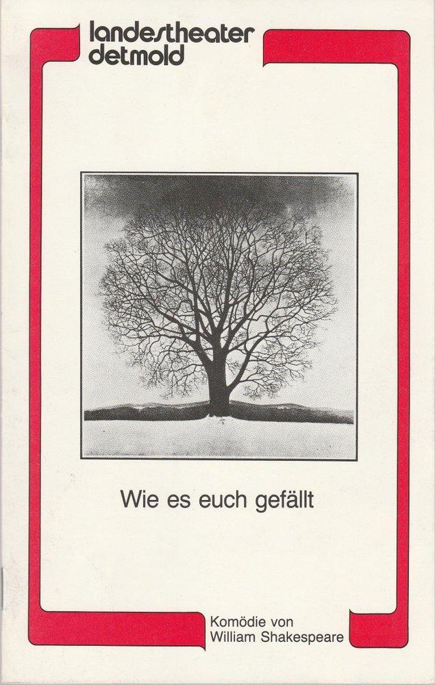 Programmheft William Shakespeare: WIE ES EUCH GEFÄLLT Landestheater Detmold 1983