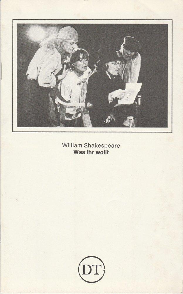 Programmheft Shakespeare: WAS IHR WOLLT Deutsches Theater in Göttingen 1982