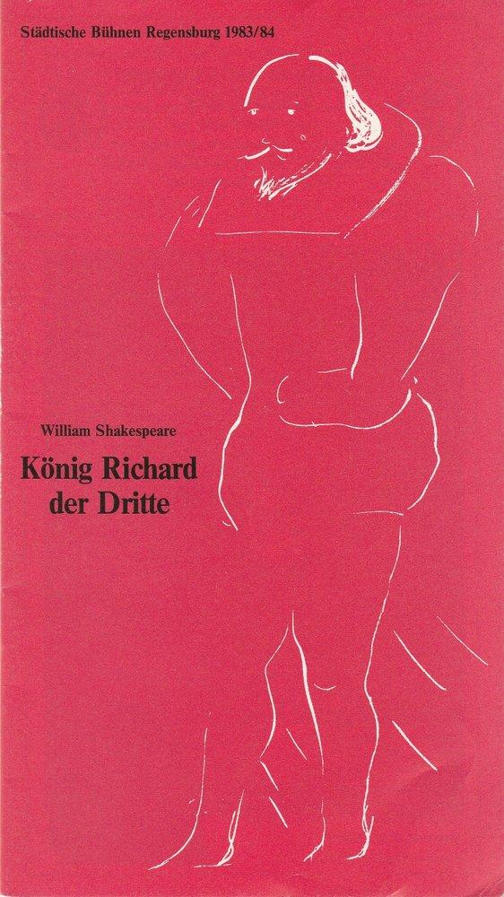 Programmheft William Shakespeare König Richard der Dritte Bühnen Regensburg 1984