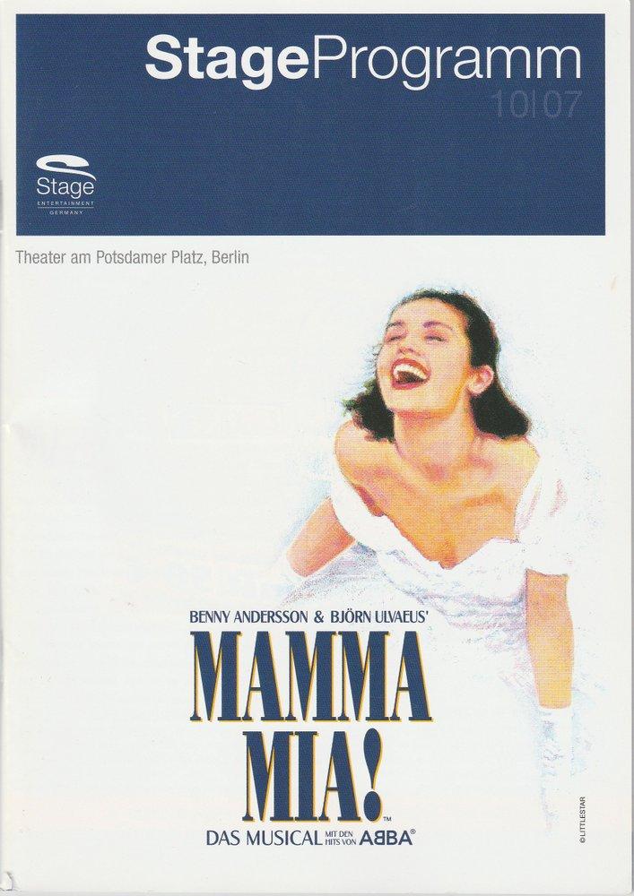 Programmheft MAMMA MIA! Das Musical Theater am Potsdamer Platz 2007