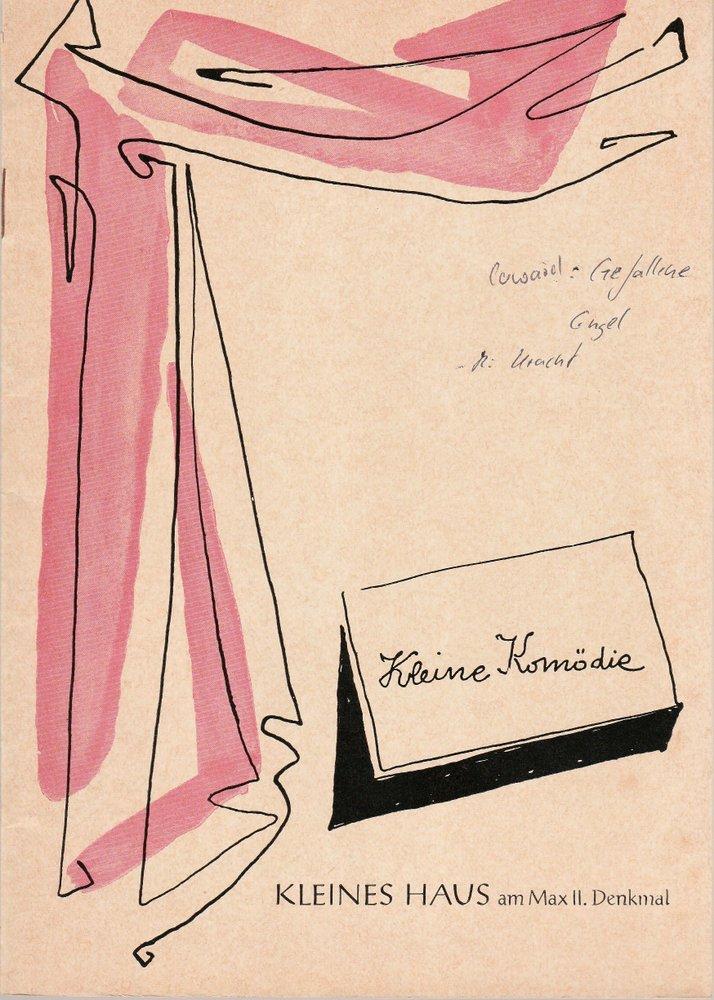 Programmheft GEFALLENE ENGEL von Noel Coward Kleine Komödie am Max II. 1964