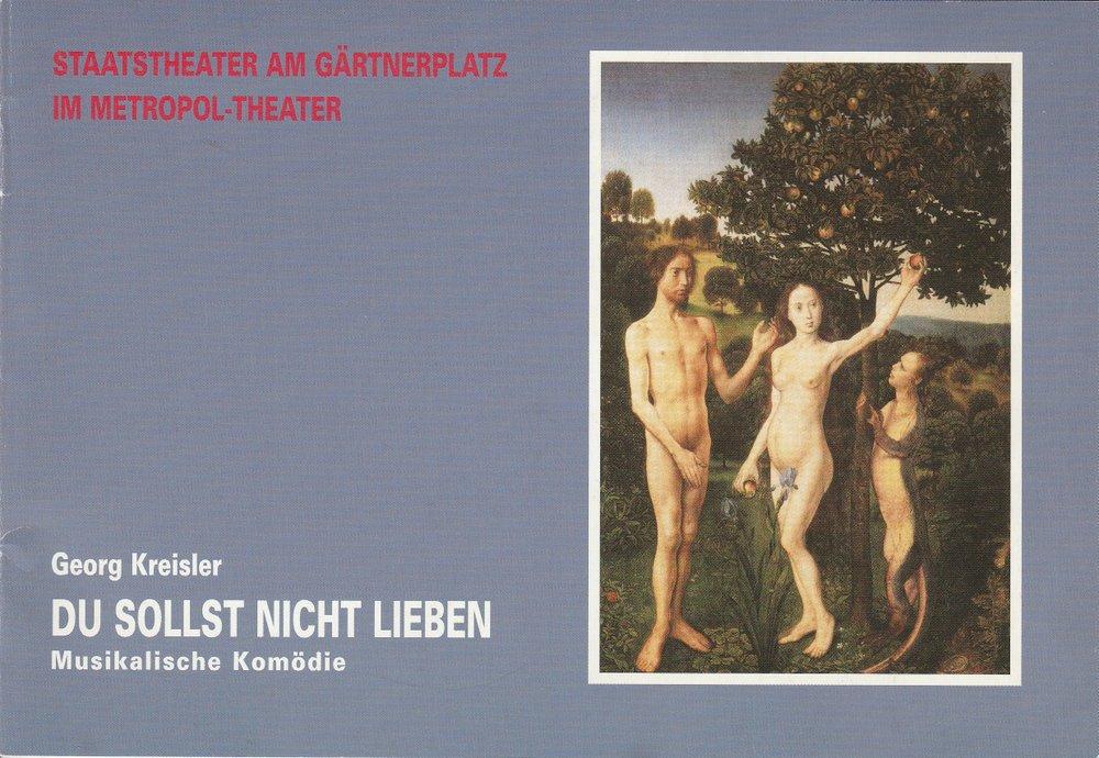 Programmheft Du sollst nicht lieben von Georg Kreisler Metropol-Theater 2002