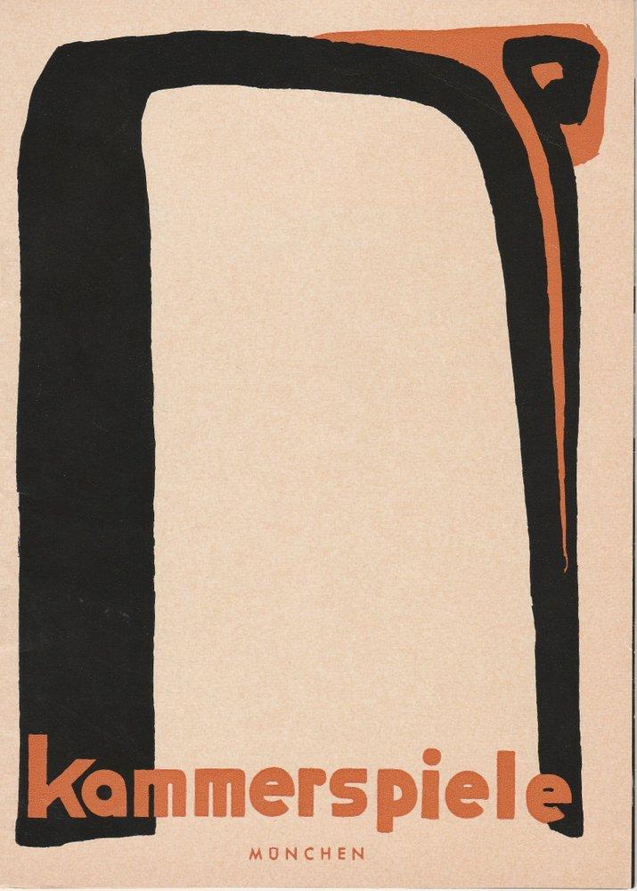 Programmheft OTHELLO von William Shakespeare Münchner Kammerspiele 1963