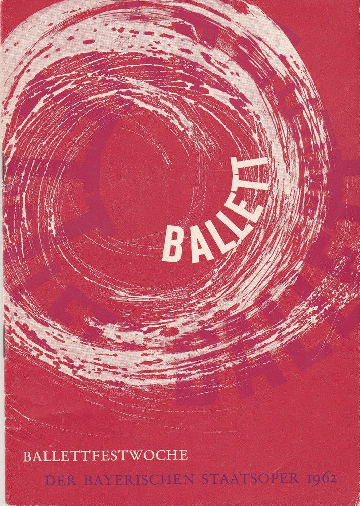 Programmheft THE SLEEPING BEAUTY Ballettfestwoche Bayerische Staatsoper 1962