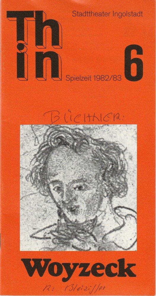 Programmheft WOYZECK von Georg Büchner Stadttheater Ingolstadt 1983
