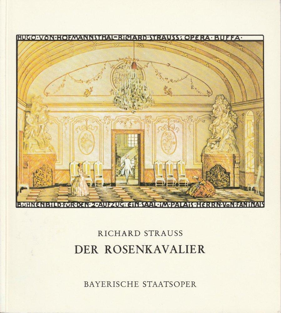 Programmheft Richard Strauss: Der Rosenkavalier Bayerische Staatsoper 1972