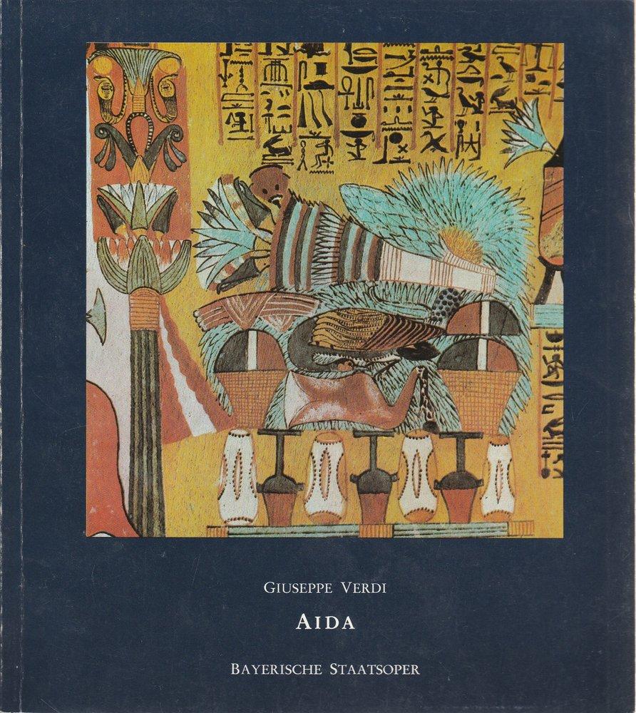 Programmheft Giuseppe Verdi: AIDA Bayerische Staatsoper 1979