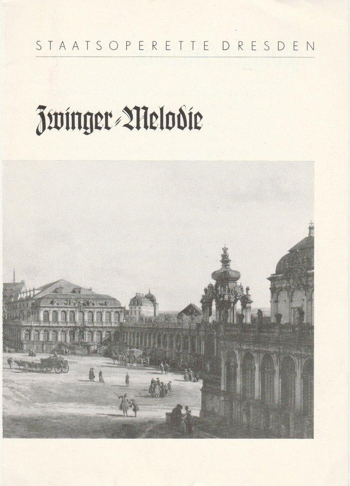 Zwinger = Melodie. Premiere 4. August 1979 Spielzeit 1978 / 79 Heft 5